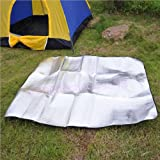 Travel Camping Aluminum Foil 200cm x 150cm Sleeping Dampproof Waterproof Mat Pad
