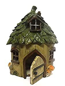 Special T Imports Resin Fairy House (Leaf Roof)