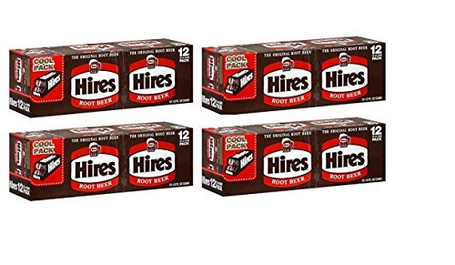 Hire's Root Beer 12 pack, 12-ounce cans (Pack of 4)