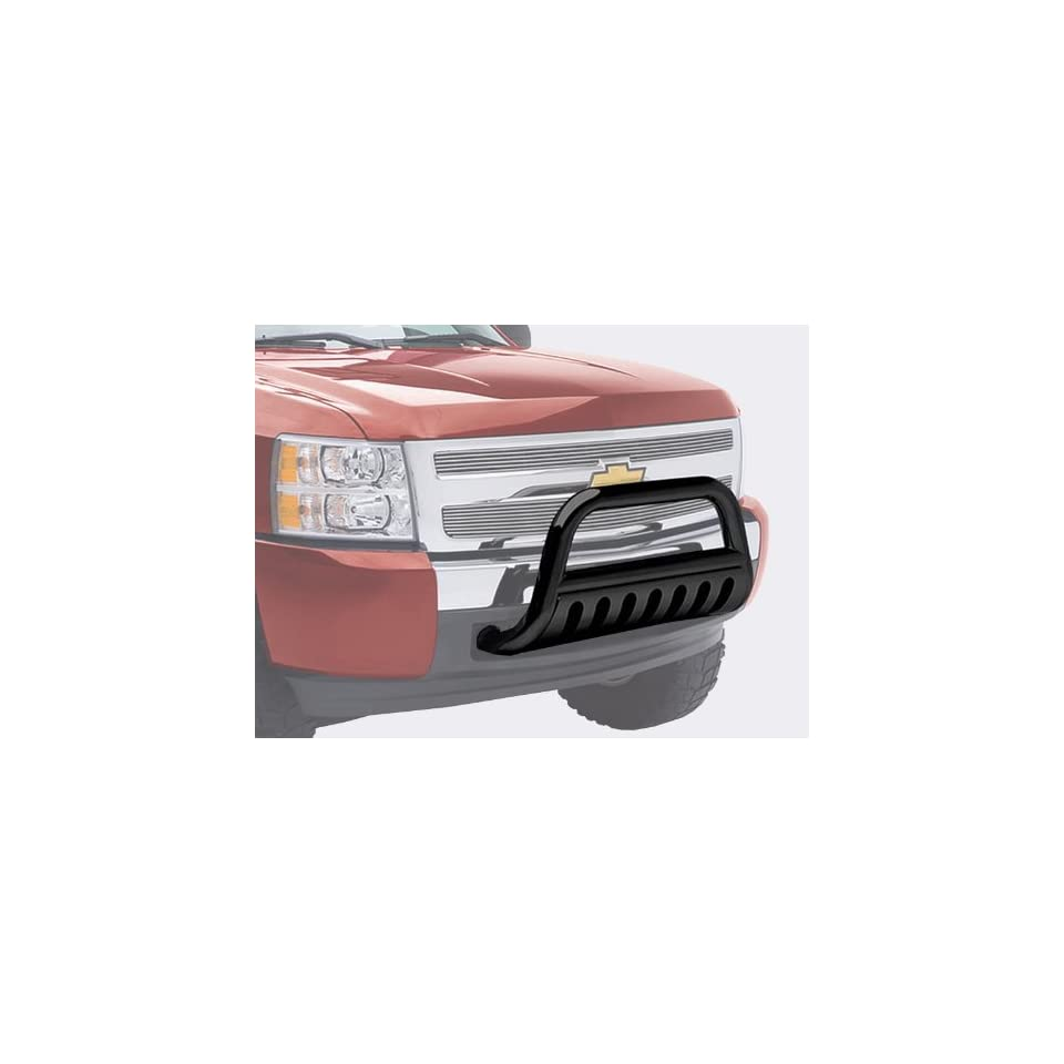 TYGER Black Bull Bar Bumper Brush Guard with Skid Plate Fits Avalanche/Silverado/Suburban/Tahoe/Sierra/Yukon
