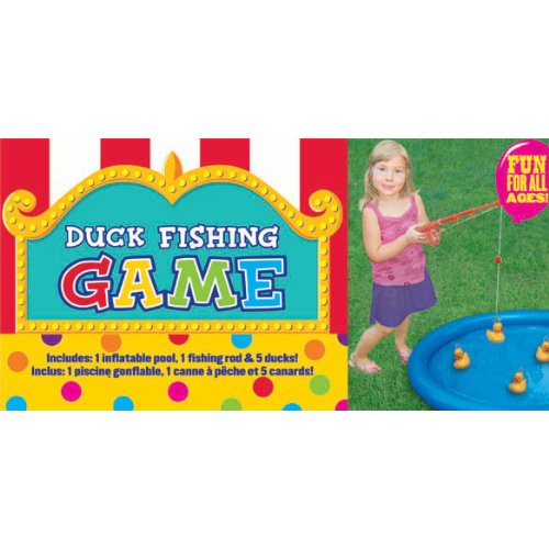 Amscan Carnival Fair Fun Duck Fishing Game Party Activity, Plastic , 3' x 3'' , (7 parts) by Amscan