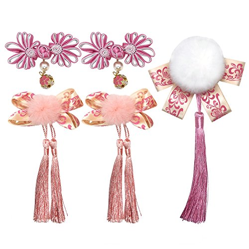 Chinese Style Girls Hairclips Set (Pink) -