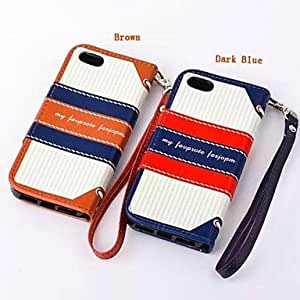 LCJ Vintage British Navy Wind Hit Color Personalized Cover for iPhone 5C(Assorted Colors) , Brown