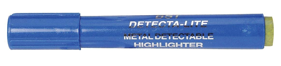 Detectapro Metal Detectable Highlighter with Yellow Ink PK10 - HLPENYL
