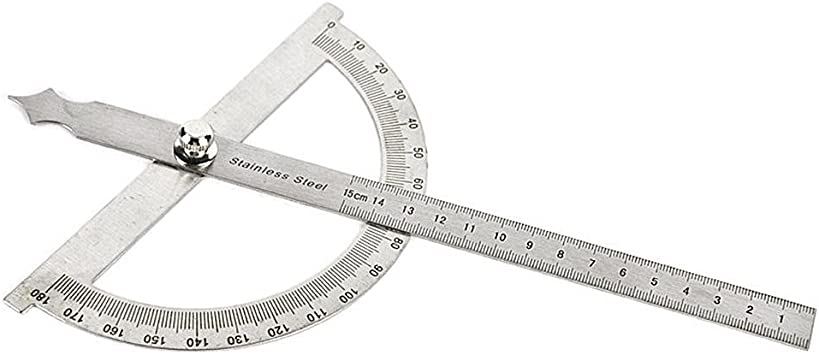 Stainless Steel 1089-07-120 Kinex 5-1//4 Machinist Protractor Angle Finder