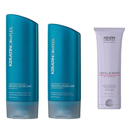 Keratin Complex Keratin Color Care Duo - Shampoo and Conditioner 13.5 ounces/each & Keratin Complex Vanilla Bean Conditioner 7 -
