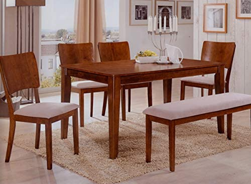 Homes R Us Sydney 1 Table 1 Bench 4 Chairs Dining Set Oak 150 X 90 X 76 Cms Buy Online At Best Price In Uae Amazon Ae