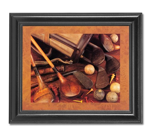 Old Wood Golf Clubs And Memorabilia Photo Wall Picture Framed Art Print