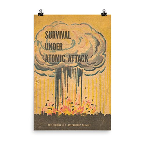 (Vintage poster - Survival under atomic attack 1200 - Premium Luster Photo Paper Poster (24x36))