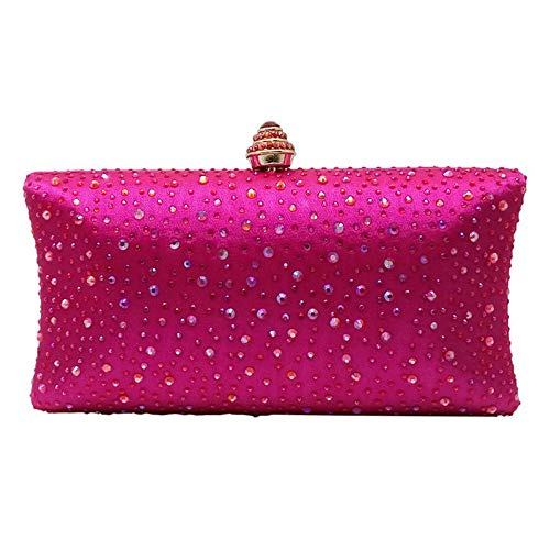 Clutch Sumferkyh Red Bag Women's Rose Shoulder Red Handbags Cross Color Bags Body Special Evening Bags Occasion Purse Rose Clutches Wristlet Crystal Evening cApwA4qY