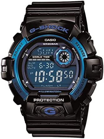 Casio Men s G8900A-1CR G-Shock Black and Blue Resin Digital Sport Watch
