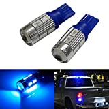 iJDMTOY (2) Sparking Blue 10-SMD 921 912 920 168 T10 LED Replacement Bulbs For Chevrolet Ford GMC Honda Nissan Toyota Truck 3rd Brake Lamp Cargo Lights