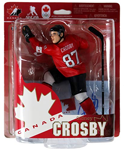 Sidney Crosby Pittsburgh Penguins Signed Autographed McFarlane Team Canada Action Figure COA