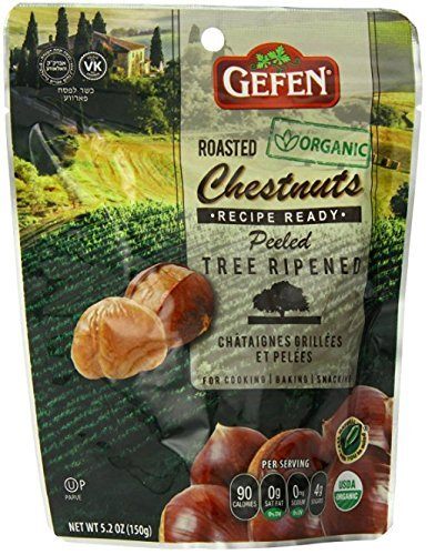 - Gefen Organic Whole Roasted and Peeled Chestnuts 5.2oz (4 Pack)