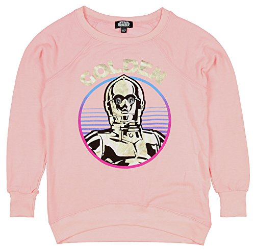 Price comparison product image Star Wars Little Girls' C-3PO Golden Pullover Top (LG, 10/12)