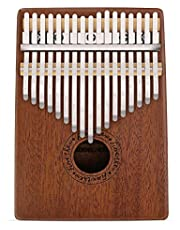 Kalimba 17 Key Thumb Piano Finger Mahogany Music Instruments with Tuning Tool and Carry Bag by Finether