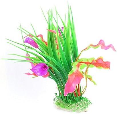 eDealMax Planta acuario plástico Emulación acuática Floral, 9.4, Rosa