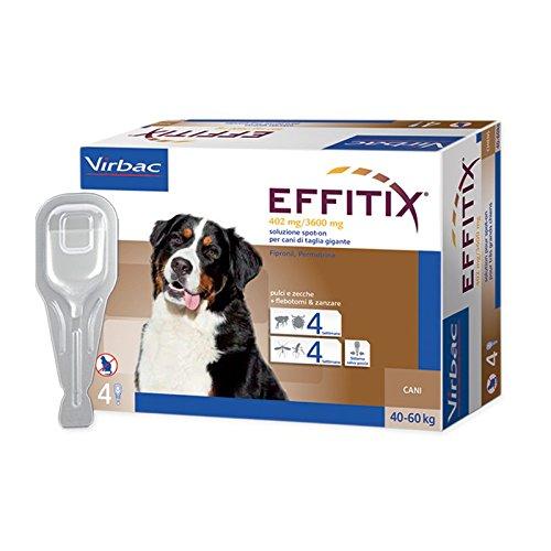 5 opinioni per EFFITIX XLARGE (40-60 kg)- Efficace antiparassitario per cani contro pulci,