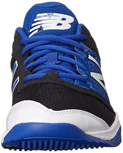 New Balance Men's T4040V3 Turf Baseball Shoe, Black/Blue, 10 D US Black/Blue