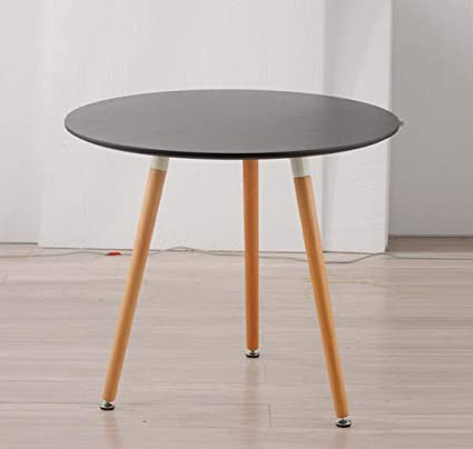Qkdsa Small Table Simple Round Wood Table Casual Coffee