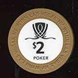 $2 WYNN Hotel and Casino Used in Wynn Poker Room Now Obsolete Las Vegas Nevada Casino Chip Almost Uncirculated Collectors Chip Real Live chip