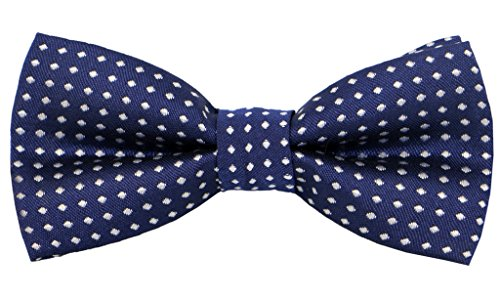 Carahere Handmade Little Boy's Bow Ties M012 Navy Blue ()