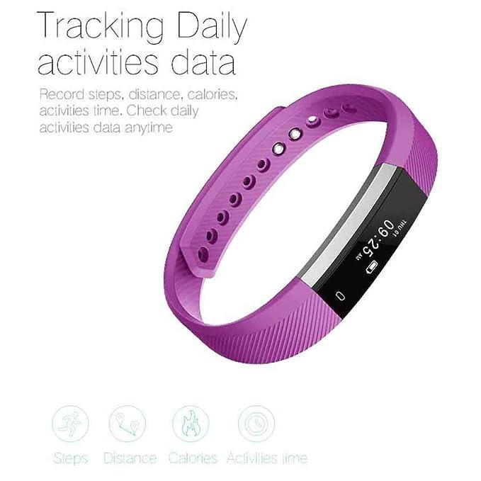 Arbily Pulsera Inteligente, Fitness Tracker Smart Wristband Bracelet monitorear la Actividad de Seguimiento de Bot¨®n t¨¢ctil de Bluetooth Pulsera ...