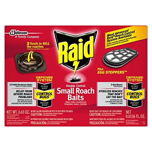 Double Control Small Roach Baits and Raid Plus, Egg (Kill Bait)