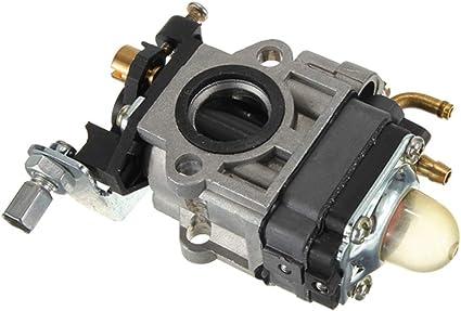 Carburador universal de 15 mm Carburador de 2 tiempos apto para desbrozadora Minimoto 43CC AT 50CC: Amazon.es: Coche y moto