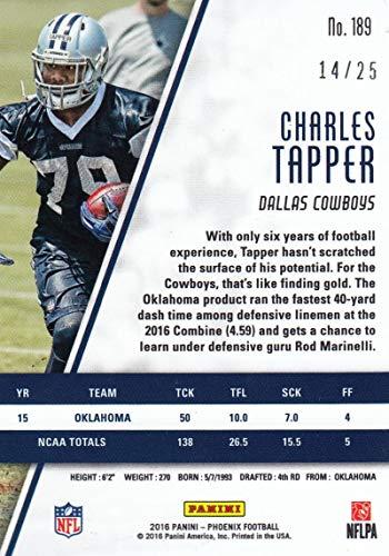 CHARLES TAPPER 2016 SENIOR BOWL OKLAHOMA SOONERS RC ROOKIE CARD DALLAS COWBOYS