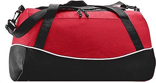 Augusta Sportswear Gear Bag - Augusta Sportswear Tri-color Sport Bag OS Red/Black/White