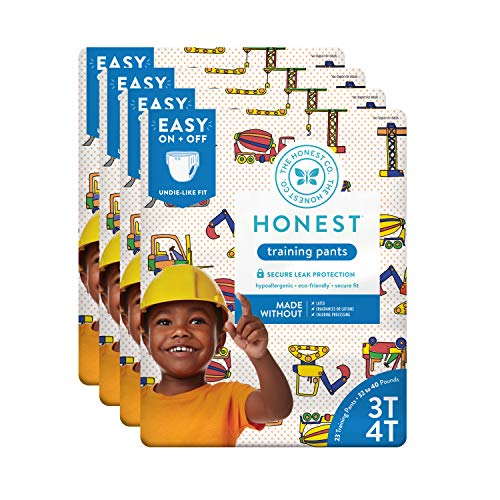 The Honest Company Toddler Training Pants, Construction Zone, 3T/4T, 92 Count (Packaging May Vary) (The Best Construction Company)