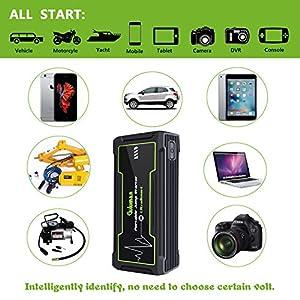Guluman 800A 16800mAh Portable Car Jump Starter, 12-Volt Truck Car Battery Booster Jump Starter Pack, Power Bank with LED Emergency Flashlight