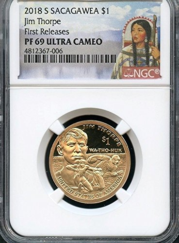 2018 S Native American (Sacagawea/Golden) Jim Thorpe Inspired Design Dollar PF69 NGC