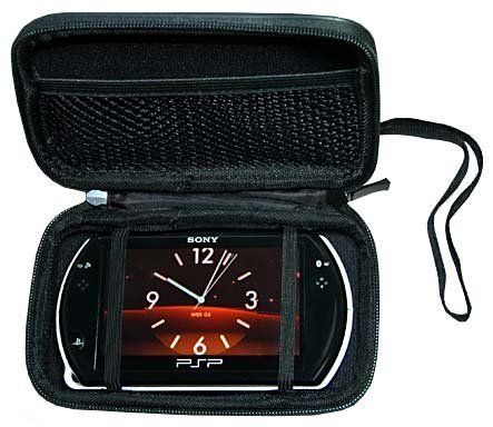 PSP Go PSPGo Accessory. Premium Hard New Black Airform Carrying Case Sony PSP Go (Case Psp Sony Go)