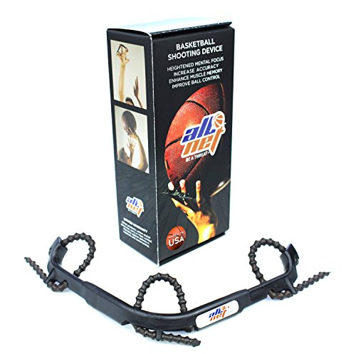 AllNet Basketball Training Shooting Device - Help Improve your shot with finger Trainer Aid. Adjustable for all ages. Shoot NBA PRO Level, Correct Bad Habits with Proper Grip & Form Muscle (Trainer Device)