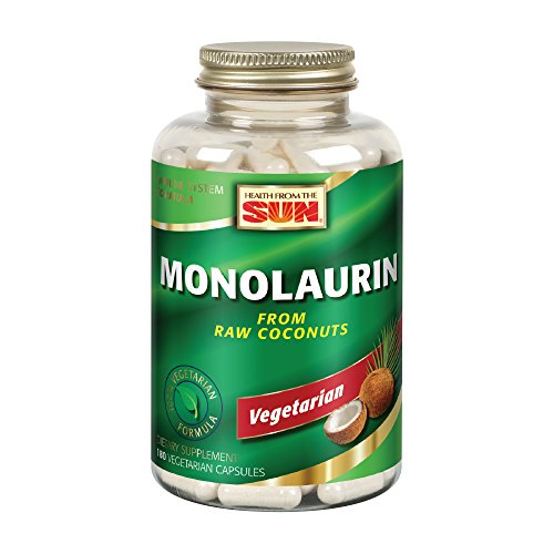 Health from the Sun® Monolaurin Capsules, 990 mg | Vegetarian | Support for Healthy Immune Function & Digestion | Optimal Wellness Benefits | 180 ct