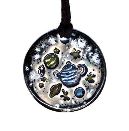 Surly-Ramics Russell's Teapot Ceramic Pendant Necklace