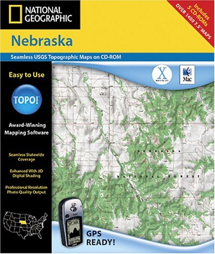 National Geographic TOPO Map of Nebraska (Mac)
