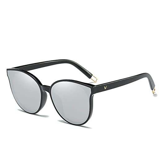 Yangjing-hl Color Flat Top Cat Eye Mujer Gafas de Sol Elegantes ...
