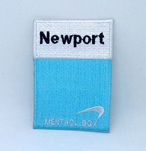 Newport Cigarettes Menthol Box Iron on Sew on Embroidered (Newport Menthol)
