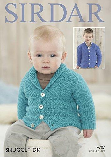Sirdar Baby & Boys Cardigans Snuggly Knitting Pattern 4707 DK