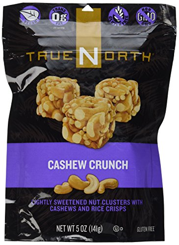 True North Cashew Crunch, Lightly Sweetened Nut Clusters with Cashews and Rice Crisps, 5 Oz (Pack of (Chocolate Cashew Cluster)