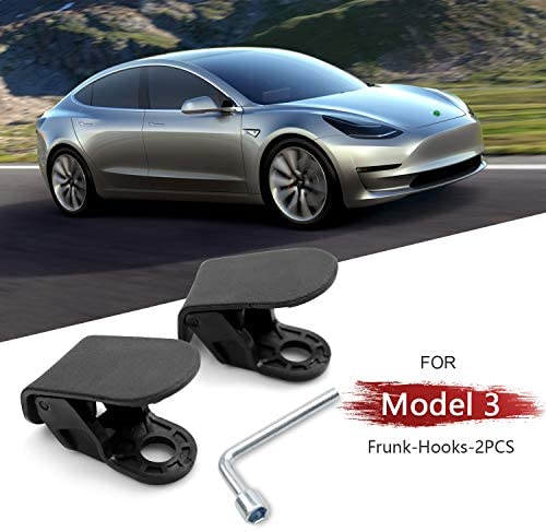 DESLE Tesla Model 3 2020 Accessories,Premium Model 3 Frunk Hooks Compatible for Tesla Model 3 Grocery Hooks Keep Grocery Organized and Clean 2PCS Only for Year 2020 and 2021 Only