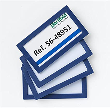 Tarifold 945912 - Pack de 4 marcos identificadores 80 x 45 mm ...