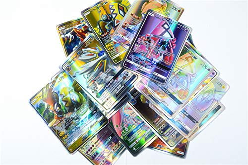100 Pcs Pokemon GX Cards EX MEGA Energy Trainer Cards 89 GX+10 Trainer