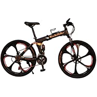 Gogo A1 Kimi Men's Full Suspension 21 Speed Foldable Mountain Bike With 17-Inch X 26-Inch Aluminium Frame Disc Brake And Quick Released Wheels And Sit