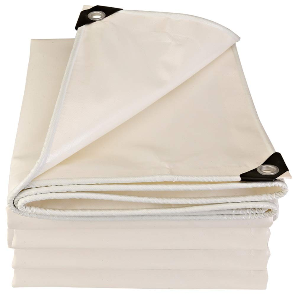 GUOWEI-pengbu ターポリン 日焼け止め シェード 防水 断熱 防風 防塵 耐熱エージング アウトドア、 厚さ0.45mm (色 : 白, サイズ さいず : 4.8x5.8m) 4.8x5.8m 白 B07JVWXGZW