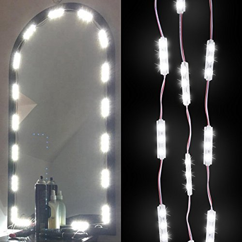 Makeup Vanity Mirror Lights,DIY Make-Up Mirror Light Kits For Cosmetic Mirror with Dimmer Controller 60 LED Bulbs 9.8 FT - White