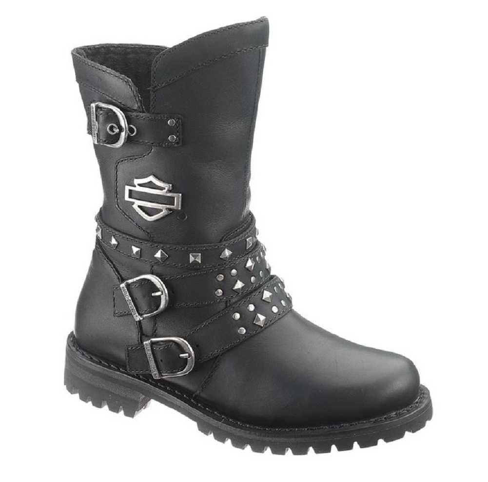Harley-Davidson Womens Adrian Black Leather Mid Cut Boot B00H62H7QA 5.5 B(M) US|Black